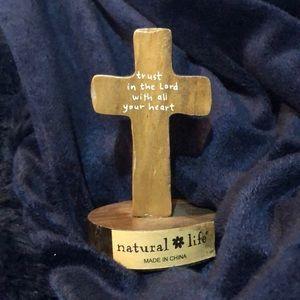 Natural Life Small Decor Wooden Cross